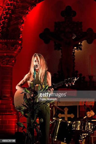 Singer Heather Nova performs live during a concert at the Passionskirche on November 3 2015 in Berlin Germany