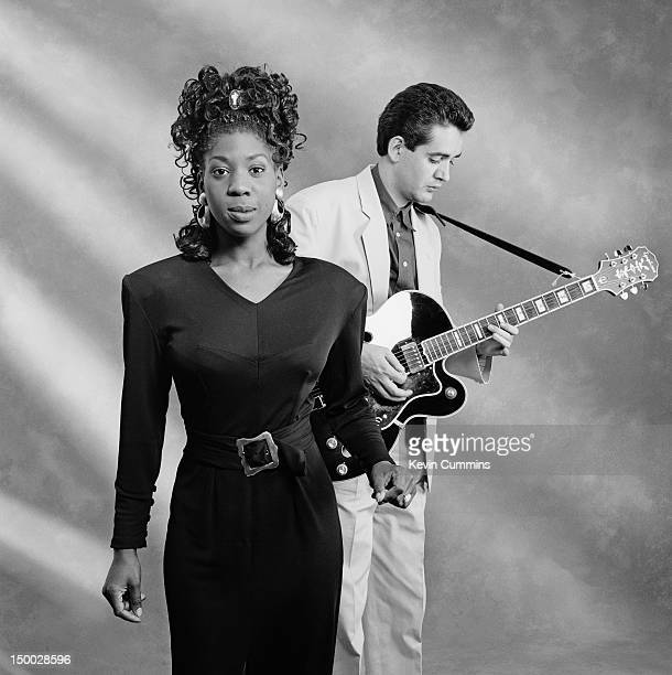 Singer Heather Small and guitarist Mark Pringle of English soul group Hot House 8th August 1987 Small went on to join house music group M People