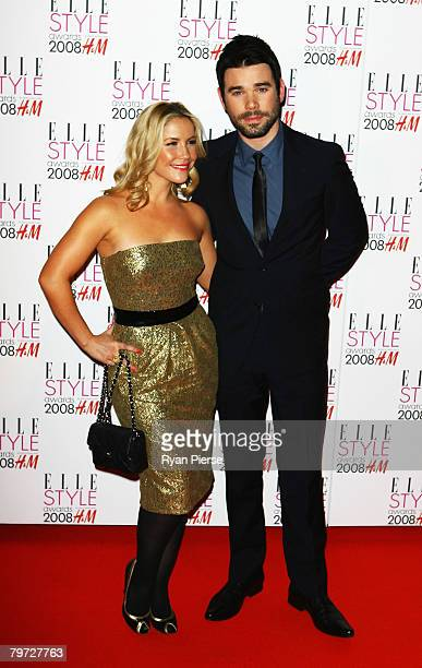 Singer Heidi Range and Dave Berry pose in the press room at the Elle Style Awards 2008 at The Westway on February 12 2008 in London England