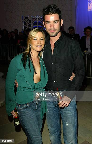 Singer Heidi Range from the Sugababes and her boyfriend TRL presenter Dave Berry attend the MTV Party held at the MTV Villa on May 15 2004 in Cannes...