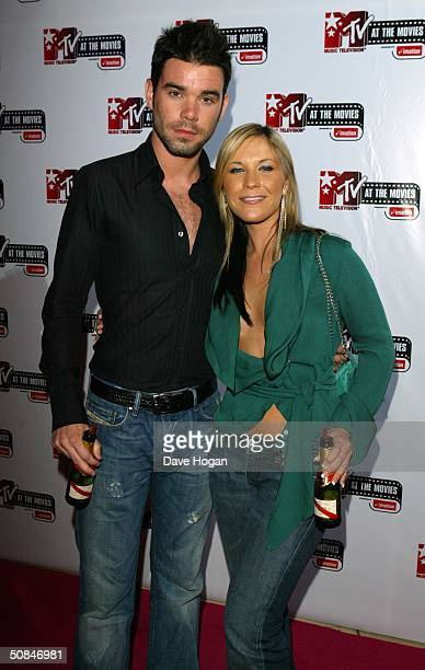 Singer Heidi Range from the Sugababes and her boyfriend TRL presenter Dave Berry attend the 'MTV Party' held at the MTV Villa on May 15 2004 in...