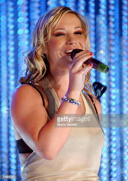 Singer Heidi Range of the Sugababes performs at the MTV Shakedown September 13 2003 in Lisbon Portugal Shakedown is a European search for the best...