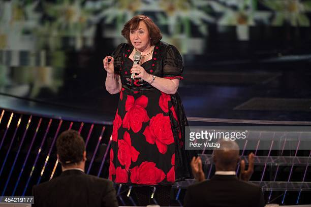 Singer Heidi Schimiczek performs during the second Semifinal of 'Das Supertalent' TV Show on December 07 2013 in Cologne Germany