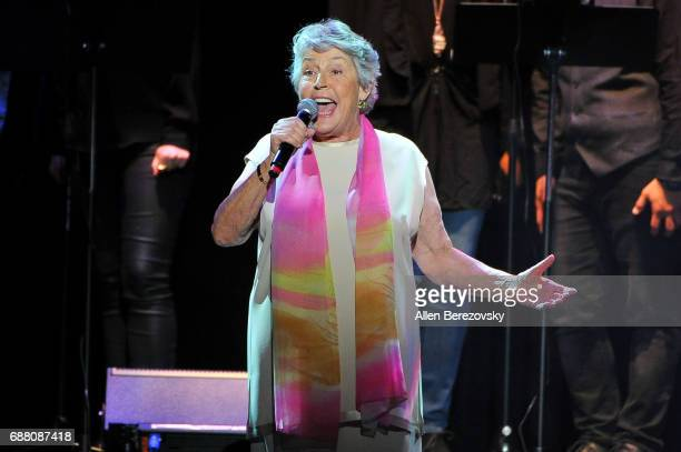 Singer Helen Reddy performs onstage during the Concert for America: Stand Up, Sing Out! at Royce Hall on May 24, 2017 in Los Angeles, California.