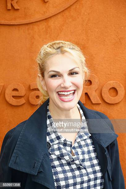 Singer Helena Noguerra attends the 2016 French Tennis Open Day Three at Roland Garros on May 24 2016 in Paris France