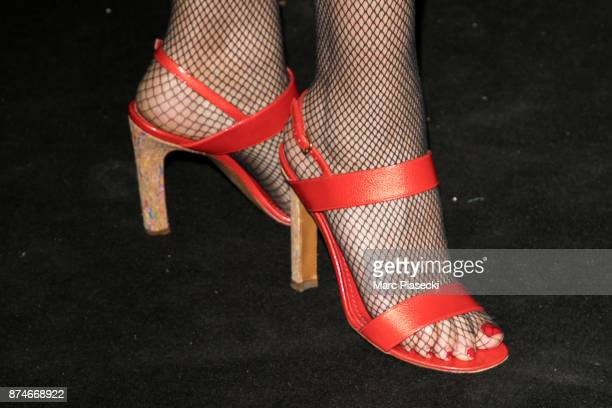 Singer Helena Noguerra shoe detail attends the 'GQ Men of the year awards 2017' at Le Trianon on November 15 2017 in Paris France