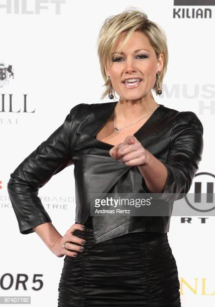 Singer Helene Fischer attends the 'Musik Hilft' charity dinner at Grill Royal on March 3 2010 in Berlin Germany
