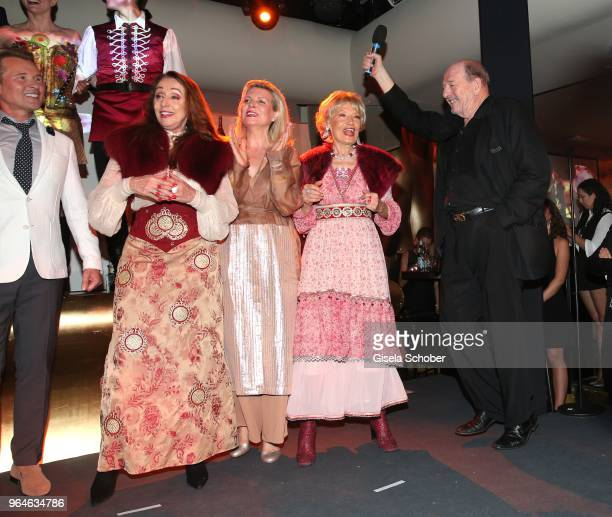Singer Henriette Heichel Strobel Emma Malinina and Edina Pop and Ralph Siegel during the surprise party for the worldwide comeback of Ralph Siegels...
