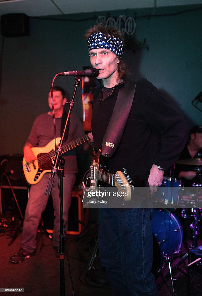 Singer Henry Lee Summer (C) performs at Good Times Bar and Grill on January 11, 2013 in Indianapolis, Indiana.