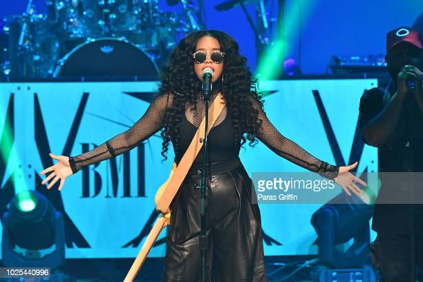 Singer H.E.R performs at 2018 BMI R&B/Hip-Hop Awards on August 30, 2018 in Atlanta, Georgia.