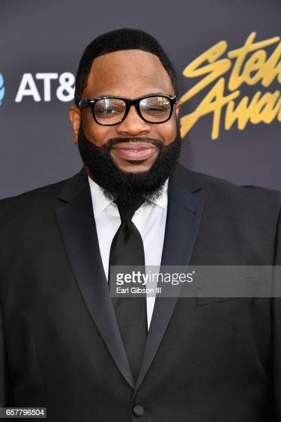 Singer Hezekiah Walker arrives at the 32nd annual Stellar Gospel Music Awards at the Orleans Arena on March 25 2017 in Las Vegas Nevada