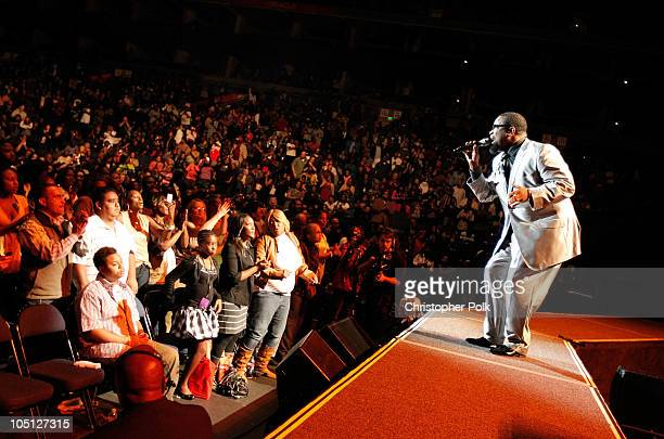 Singer Hezekiah Walker performs onstage during Verizon's How Sweet The Sound 2010 event at ORACLE Arena on October 9 2010 in Oakland California