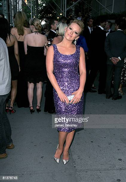 Singer Hilary Duff attends the 2008 CFDA Fashion Awards at The New York Public Library on June 2, 2008 in New York City.