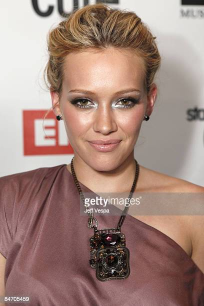 Singer Hilary Duff attends the 2009 EMI Grammy after party held at SLS Beverly Hills Hotel on February 8 2009 in Los Angeles California