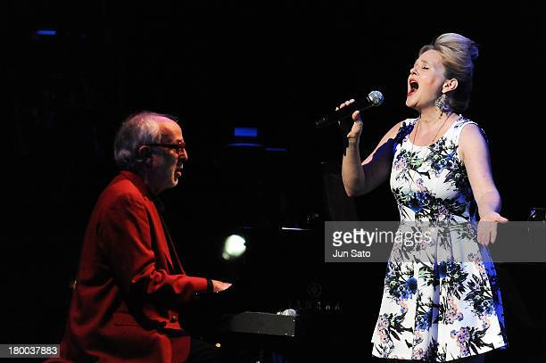 Singer Hilary James and musician Bob James perform during 'Tokyo Jazz 2013' at Tokyo International Forum on September 8 2013 in Tokyo Japan