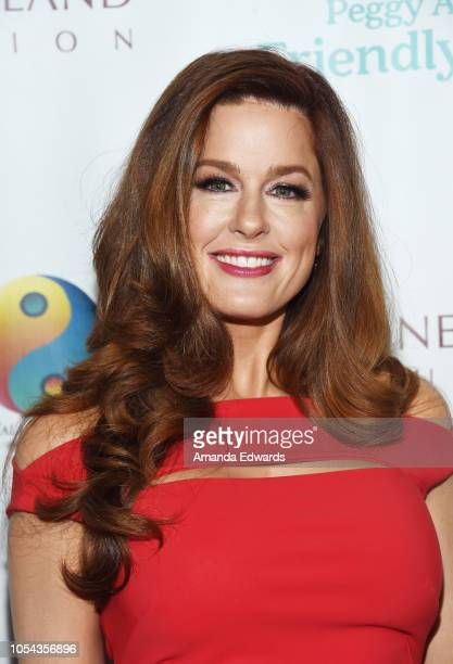Singer Hilary Roberts arrives at the Peggy Albrecht Friendly House's 29th Annual Awards Luncheon at The Beverly Hilton Hotel on October 27 2018 in...