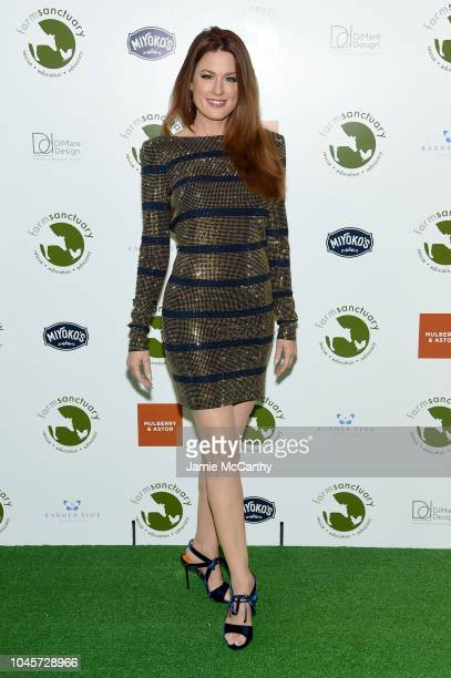 Singer Hilary Roberts attends the 2018 Farm Sanctuary on the Hudson gala at Pier 60 on October 4 2018 in New York City
