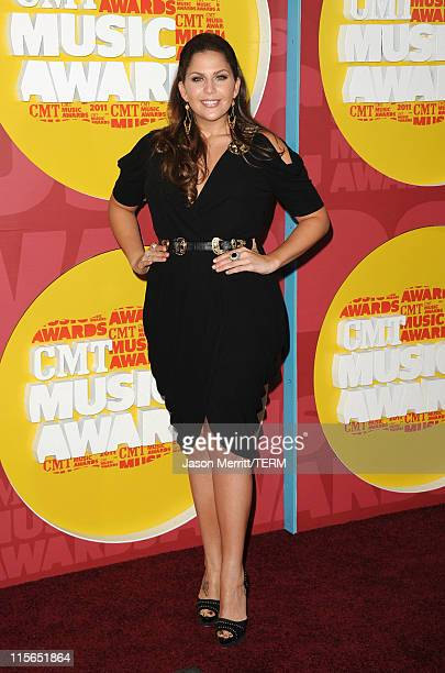 Singer Hillary Scott of Lady Antebellum attend the 2011 CMT Music Awards at the Bridgestone Arena on June 8 2011 in Nashville Tennessee