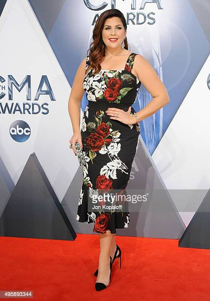 Singer Hillary Scott of Lady Antebellum attends the 49th annual CMA Awards at the Bridgestone Arena on November 4 2015 in Nashville Tennessee