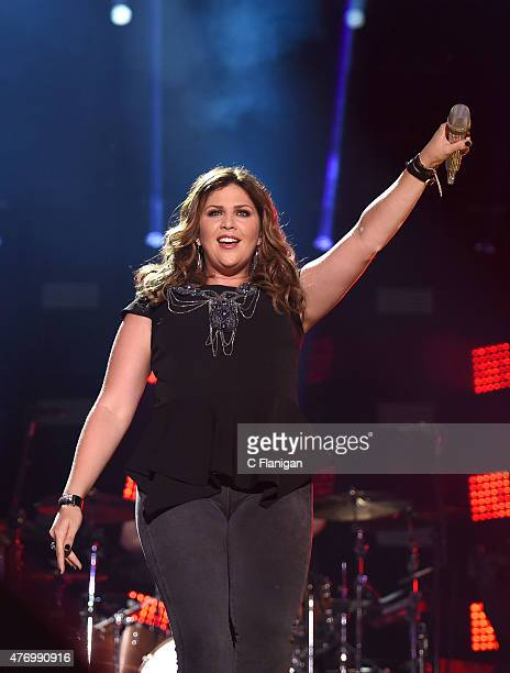 Singer Hillary Scott of Lady Antebellum performs at LP Field during the 2015 CMA Festival on June 12, 2015 in Nashville, Tennessee.