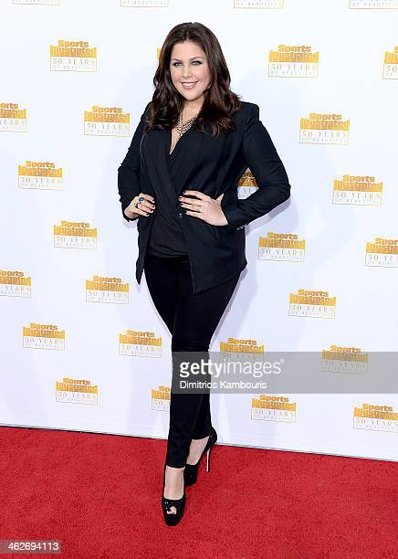 Singer Hillary Scott of the group Lady Antebellum attends NBC and Time Inc celebrate the 50th anniversary of the Sports Illustrated Swimsuit Issue at...