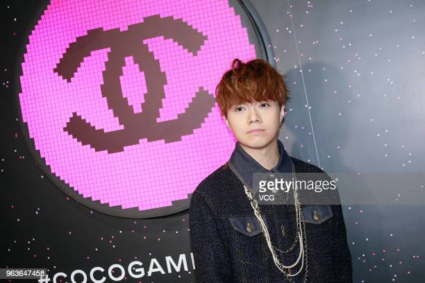 Singer Hins Cheung attends Chanel Coco Game Centre event on May 29 2018 in Hong Kong China