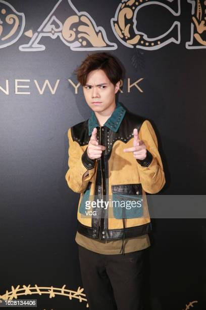 Singer Hins Cheung attends the opening ceremony of Coach Dreamer popup store on August 30 2018 in Hong Kong China