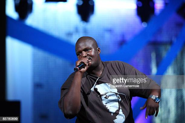 Singer Hip Hop Pantsula or HHP performs during the MTV Africa Music Awards 2008 Rehearsals at the Abuja Velodrome on November 21, 2008 in Abuja,...