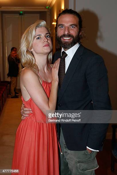 Singer HollySiz alias Cecile Cassel and John Nollet attend French minister of Culture and Communication Fleur Pellerin gives Medal of 'Knight of Arts...
