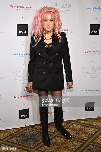 Singer Honoree and True Colors Fund CoFounder Cyndi Lauper attends Russell Simmons' Rush Philanthropic Arts Foundation's Annual Rush HeARTS Education...