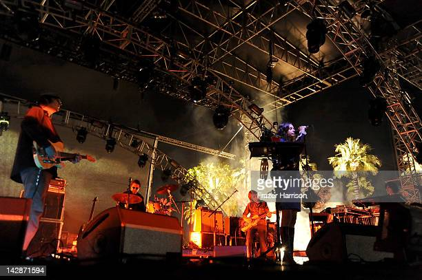 Singer Hope Sandoval of the band Mazzy Star perform during Day 1 of the 2012 Coachella Valley Music Arts Festival held at the Empire Polo Club on...