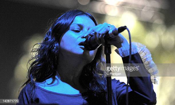 Singer Hope Sandoval of the band Mazzy Star performs during the 2012 Coachella Music Festival at The Empire Polo Club on April 13 2012 in Indio...
