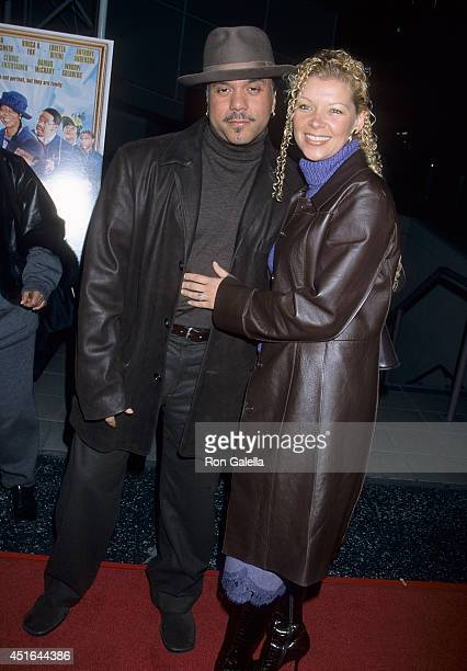 Singer Howard Hewett and wife Angela attend the Ninth Annual Pan African Film Arts Festival Kingdom Come Screening on February 8 2001 at the...