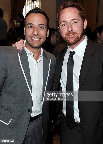 Singer Howie Dorough and actor Scott Grimes arrive at the 10th Annual Lupus LA Orange Ball on May 6, 2010 in Beverly Hills, California.