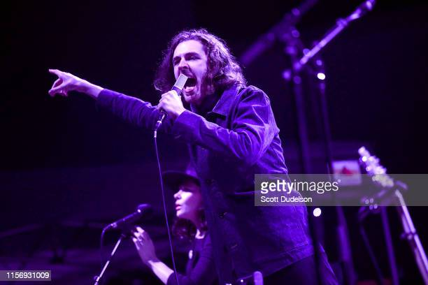 Singer Hozier performs onstage during his 'Wasteland Baby' tour at Hollywood Forever on June 18 2019 in Hollywood California