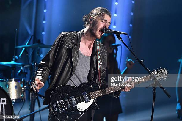 Singer Hozier performs onstage during the VH1 Big Music in 2015 You Oughta Know Concert at The Armory Foundation on November 12 2015 in New York City