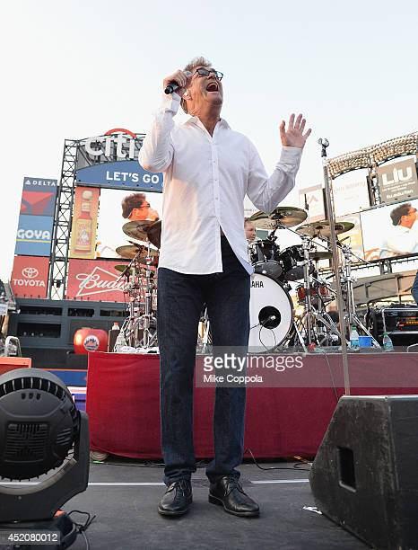 Singer Huey Lewis of the band Huey Lewis the News performs in concert at Citi Field on July 12 2014 in New York City