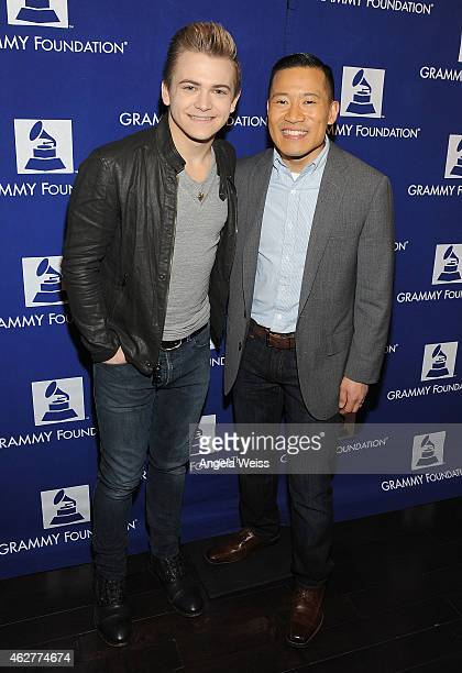 Singer Hunter Hayes and Music Educator Award recipient Jared Cassedy at the GRAMMY Foundation's 6th annual GRAMMY In The Schools Live benefit concert...