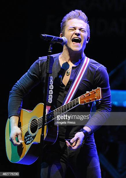Singer Hunter Hayes at the GRAMMY Foundation's 6th annual GRAMMY In The Schools Live benefit concert featuring Hunter Hayes at Club Nokia on February...