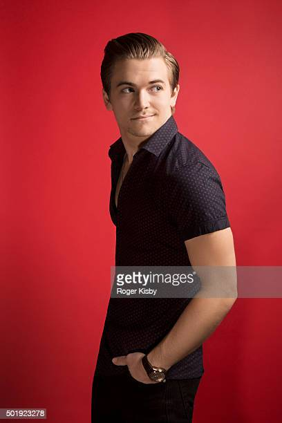 Singer Hunter Hayes poses for a portrait at the 16th Annual TJ Martell Foundation New York Family Day on December 13 2015 at Brooklyn Bowl in New...