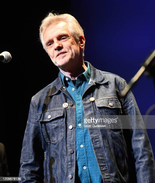 Singer Iain Matthews founding member of Fairport Convention performs onstage during the Wild Honey Foundation's benefit for Autism Think Tank at Alex...