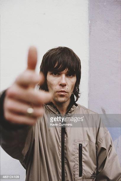 Singer Ian Brown of British rock group The Stone Roses circa 1990