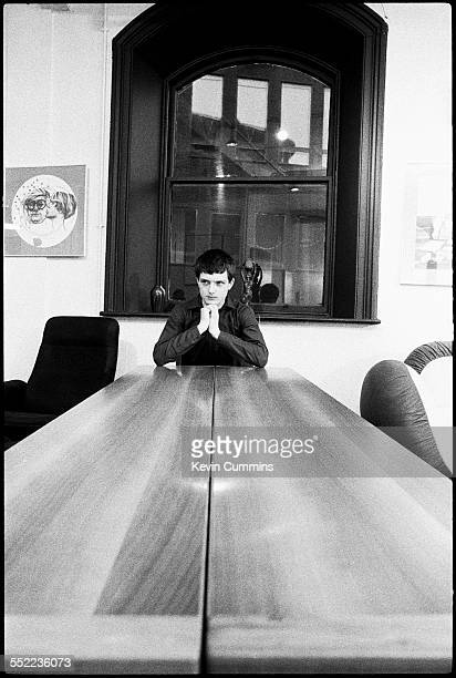Singer Ian Curtis , of English post-punk band Joy Division, in an art and furniture shop, Manchester, 6th January 1979.