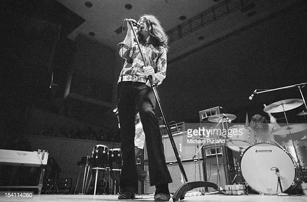 Singer Ian Gillan and drummer Ian Paice performing with English rock group Deep Purple at Fairfield Halls Croydon London March 1972