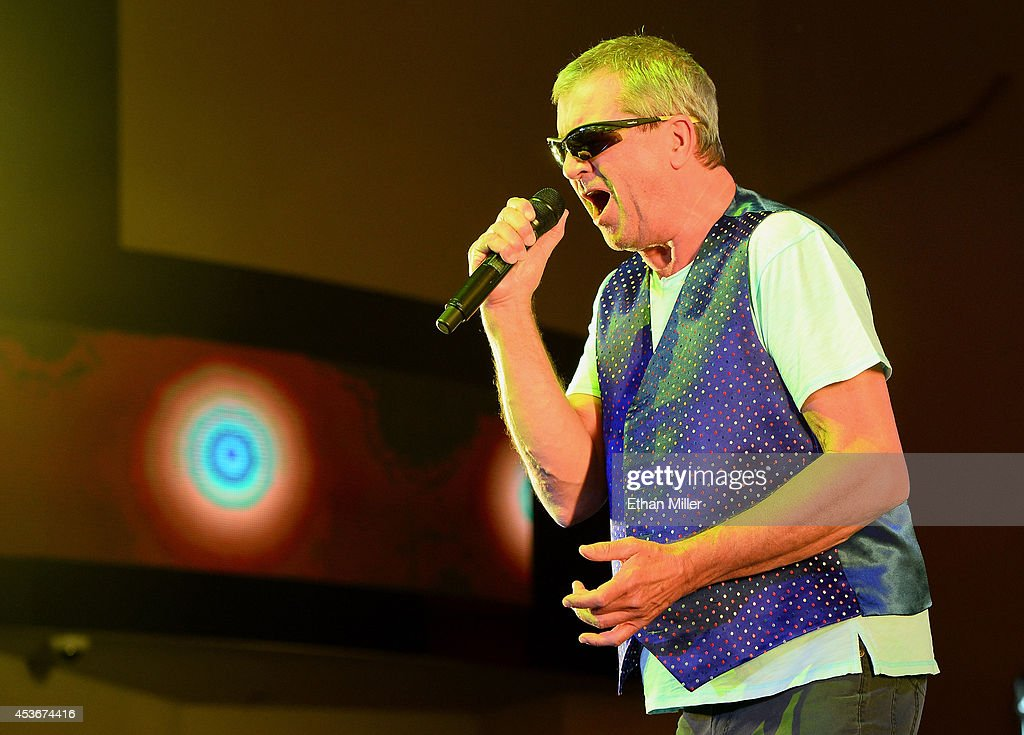 Singer Ian Gillan of Deep Purple performs at the Fremont Street Experience on August 15, 2014 in Las Vegas Nevada.