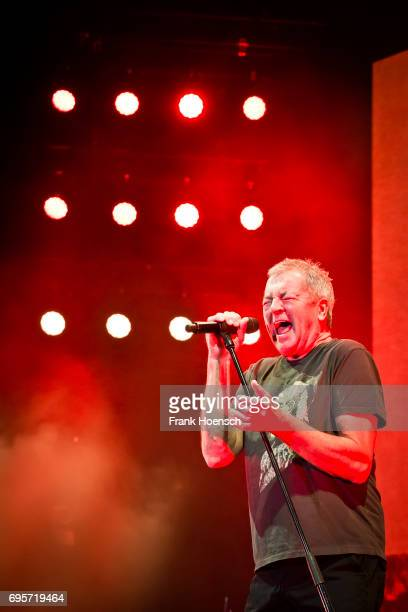 Singer Ian Gillan of the British band Deep Purple performs live on stage during a concert at the MercedesBenz Arena on June 13 2017 in Berlin Germany
