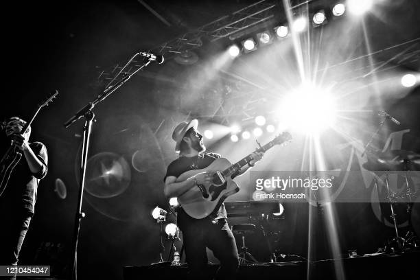 Singer Ian Hooper of the German band Mighty Oaks performs live on stage during a concert at the Huxleys on March 4, 2020 in Berlin, Germany.