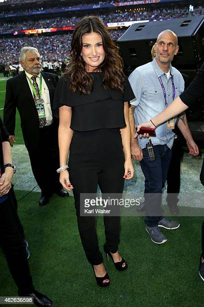 Singer Idina Menzel attends Super Bowl XLIX at University of Phoenix Stadium on February 1 2015 in Glendale Arizona