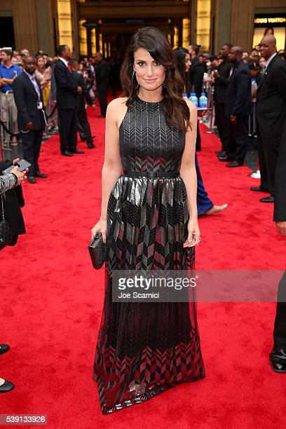 Singer Idina Menzel attends the 44th AFI Life Achievement Award Gala Tribute honoring John Williams in partnership with FIJI Water at Dolby Theatre...