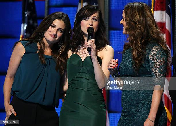 Singer Idina Menzel joins the Stars of Broadway to perform 'What the World Needs Now' honoring those killed in the Pulse nightclub shooting in...